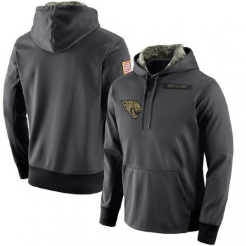 Men's Nike Jacksonville Jaguars Anthracite Salute to Service Player Performance Hoodie -