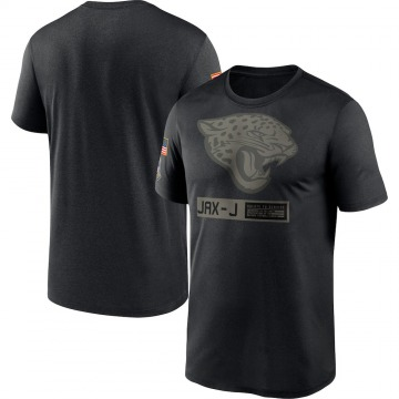 Men's Nike Jacksonville Jaguars Black 2020 Salute to Service Team Logo Performance T-Shirt -