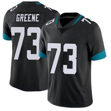 Men's Nike Jacksonville Jaguars Donnell Greene Green 100th Vapor Untouchable Black Jersey - Limited