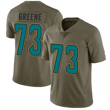 Men's Nike Jacksonville Jaguars Donnell Greene Green 2017 Salute to Service Jersey - Limited