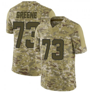 Men's Jacksonville Jaguars Donnell Greene Green Camo 2018 Salute to Service Jersey - Limited