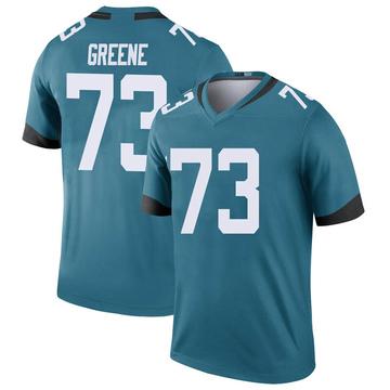 Men's Nike Jacksonville Jaguars Donnell Greene Green Color Rush Teal Jersey - Legend