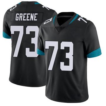 Men's Nike Jacksonville Jaguars Donnell Greene Green Vapor Untouchable Black Jersey - Limited