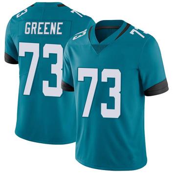 Men's Nike Jacksonville Jaguars Donnell Greene Green Vapor Untouchable Teal Jersey - Limited