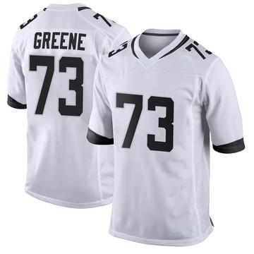 Men's Nike Jacksonville Jaguars Donnell Greene White Jersey - Game