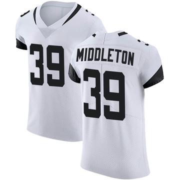 Men's Nike Jacksonville Jaguars Doug Middleton White Vapor Untouchable Road Jersey - Elite