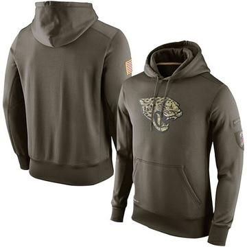 Men's Nike Jacksonville Jaguars Olive Salute To Service KO Performance Hoodie -