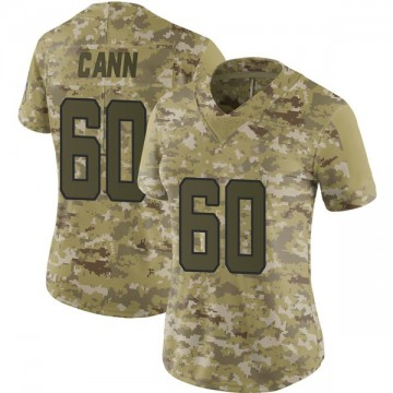 Women's Nike Jacksonville Jaguars A.J. Cann Camo 2018 Salute to Service Jersey - Limited