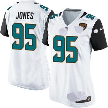 Women's Nike Jacksonville Jaguars Abry Jones White Jersey - Game
