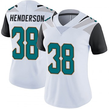 Women's Nike Jacksonville Jaguars Amari Henderson White Vapor Untouchable Jersey - Limited