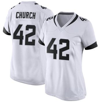 Women's Nike Jacksonville Jaguars Barry Church White Jersey - Game