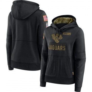 Women's Nike Jacksonville Jaguars Black 2020 Salute to Service Performance Pullover Hoodie -