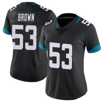 Women's Nike Jacksonville Jaguars Blair Brown Black 100th Vapor Untouchable Jersey - Limited
