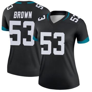 Women's Nike Jacksonville Jaguars Blair Brown Black Jersey - Legend