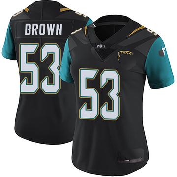 Women's Nike Jacksonville Jaguars Blair Brown Black Vapor Untouchable Alternate Jersey - Limited