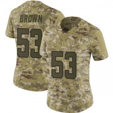 Women's Nike Jacksonville Jaguars Blair Brown Brown Camo 2018 Salute to Service Jersey - Limited