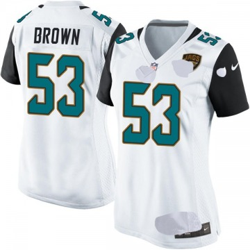 Women's Nike Jacksonville Jaguars Blair Brown White Jersey - Game