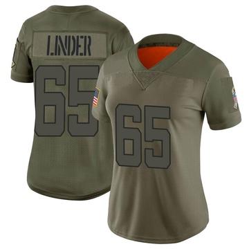 Women's Nike Jacksonville Jaguars Brandon Linder Camo 2019 Salute to Service Jersey - Limited