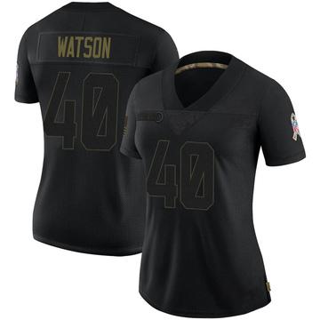 Women's Nike Jacksonville Jaguars Brandon Watson Black 2020 Salute To Service Jersey - Limited