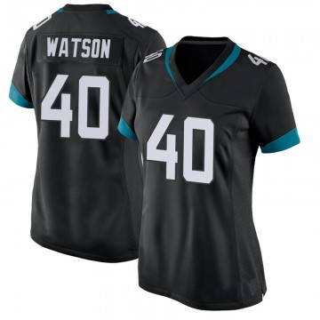 Women's Nike Jacksonville Jaguars Brandon Watson Black Jersey - Game