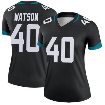 Women's Nike Jacksonville Jaguars Brandon Watson Black Jersey - Legend