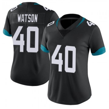 Women's Nike Jacksonville Jaguars Brandon Watson Black Vapor Untouchable Jersey - Limited