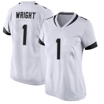 Women's Nike Jacksonville Jaguars Brandon Wright White Jersey - Game