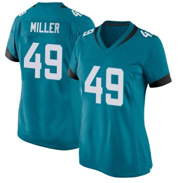 Women's Nike Jacksonville Jaguars Bruce Miller Teal Jersey - Game