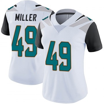 Women's Nike Jacksonville Jaguars Bruce Miller White Vapor Untouchable Jersey - Limited