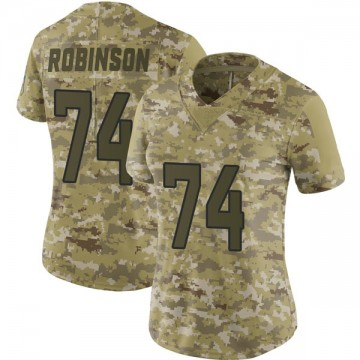 Women's Nike Jacksonville Jaguars Cam Robinson Camo 2018 Salute to Service Jersey - Limited