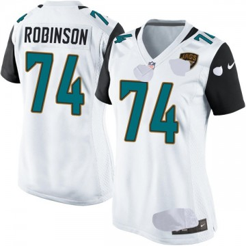 Women's Nike Jacksonville Jaguars Cam Robinson White Jersey - Game