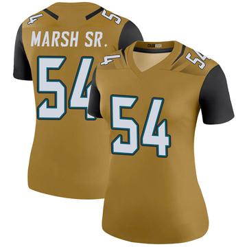 Women's Nike Jacksonville Jaguars Cassius Marsh Gold Color Rush Bold Jersey - Legend