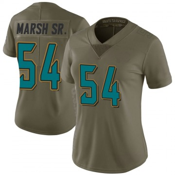 Women's Nike Jacksonville Jaguars Cassius Marsh Green 2017 Salute to Service Jersey - Limited