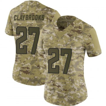 Women's Nike Jacksonville Jaguars Chris Claybrooks Camo 2018 Salute to Service Jersey - Limited