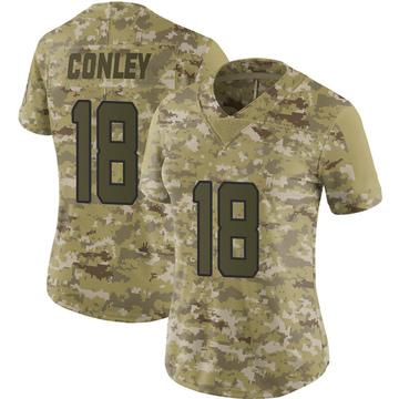 Women's Nike Jacksonville Jaguars Chris Conley Camo 2018 Salute to Service Jersey - Limited