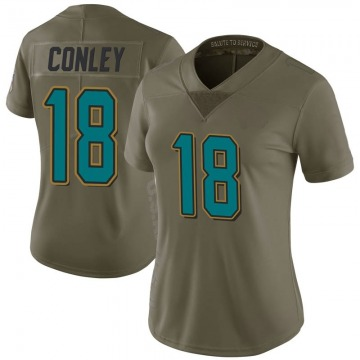 Women's Nike Jacksonville Jaguars Chris Conley Green 2017 Salute to Service Jersey - Limited
