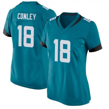 Women's Nike Jacksonville Jaguars Chris Conley Teal Jersey - Game