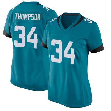 Women's Nike Jacksonville Jaguars Chris Thompson Teal Jersey - Game