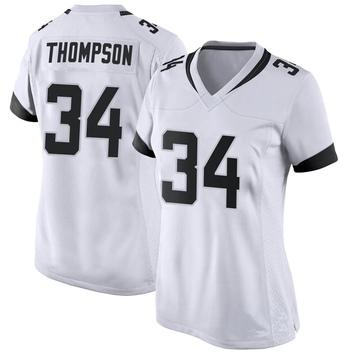 Women's Nike Jacksonville Jaguars Chris Thompson White Jersey - Game