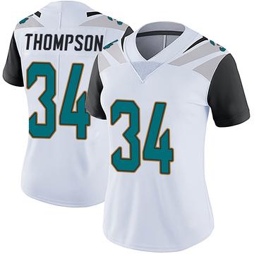 Women's Nike Jacksonville Jaguars Chris Thompson White Vapor Untouchable Jersey - Limited