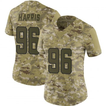 Women's Nike Jacksonville Jaguars Chuck Harris Camo 2018 Salute to Service Jersey - Limited