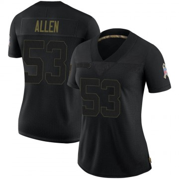 Women's Nike Jacksonville Jaguars Dakota Allen Black 2020 Salute To Service Jersey - Limited