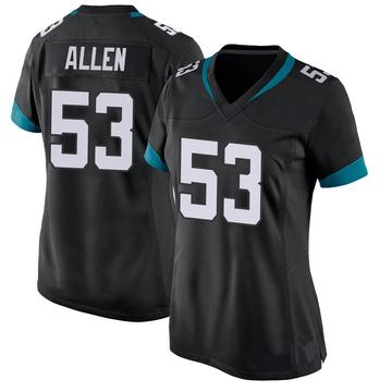 Women's Nike Jacksonville Jaguars Dakota Allen Black Jersey - Game