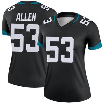 Women's Nike Jacksonville Jaguars Dakota Allen Black Jersey - Legend