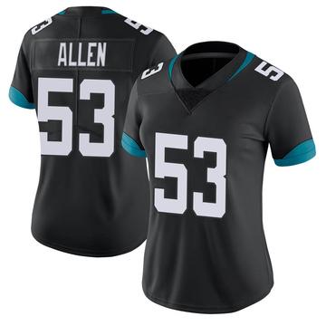Women's Nike Jacksonville Jaguars Dakota Allen Black Vapor Untouchable Jersey - Limited