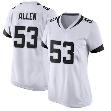Women's Nike Jacksonville Jaguars Dakota Allen White Jersey - Game