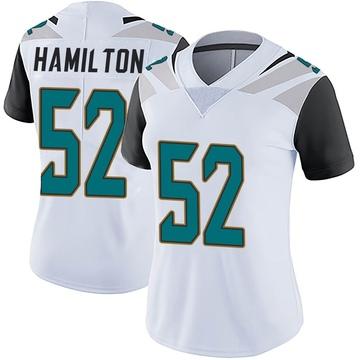 Women's Nike Jacksonville Jaguars Davon Hamilton White Vapor Untouchable Jersey - Limited