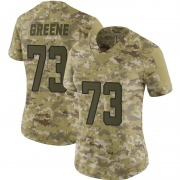 Women's Nike Jacksonville Jaguars Donnell Greene Green Camo 2018 Salute to Service Jersey - Limited