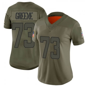 Women's Nike Jacksonville Jaguars Donnell Greene Green Camo 2019 Salute to Service Jersey - Limited