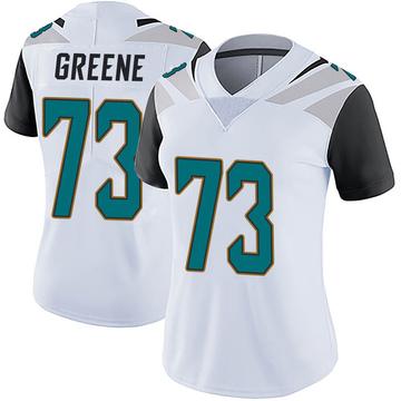 Women's Nike Jacksonville Jaguars Donnell Greene White Vapor Untouchable Jersey - Limited